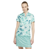 Breathe Floral Print Short Sleeve Golf Shirt