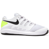 Alternate View 1 of NikeCourt Jr. Vapor X Kids' Tennis Shoe - White/Yellow
