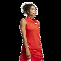 USA Olympics Sleeveless Mock Polo Shirt