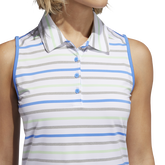 Alternate View 6 of Minted Blues Collection: Ultimate Stripe Sleeveless Polo Shirt