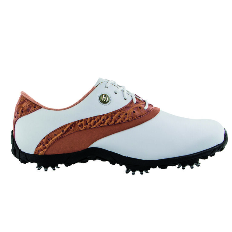 LoPro Collection Women's Golf Shoe - White/Tan