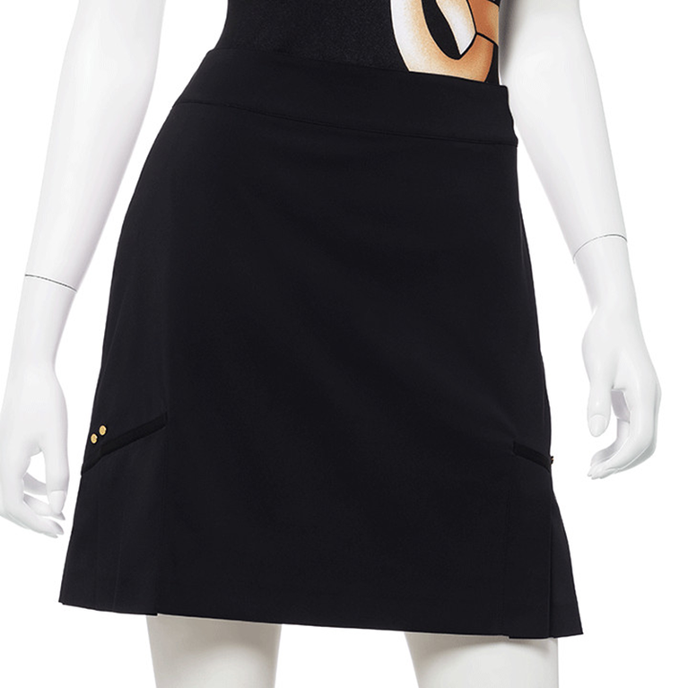 "Wild Card Collection:Pleated Hem 19"" Stretch Skort"