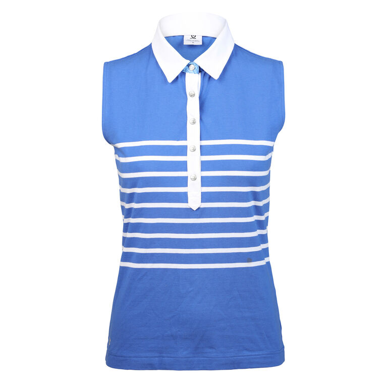 Daily Sports Gabrielle Sleeveless Stripe Polo