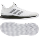 Alternate View 6 of Adizero Defiant Bounce 2 Women's Tennis Shoes - White/Black