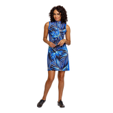 Alternate View 6 of Palm Springs Collection: Danville Frayed Front Print Sleeveless Dress