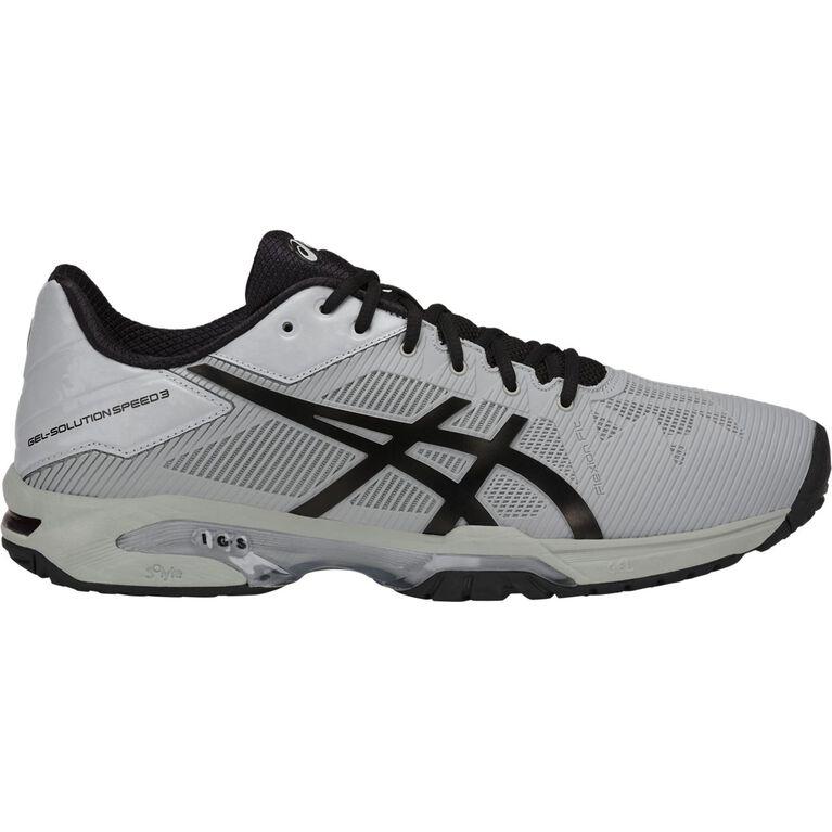 Asics GEL-Solution Speed 3 Men's Tennis Shoe - Grey/Black