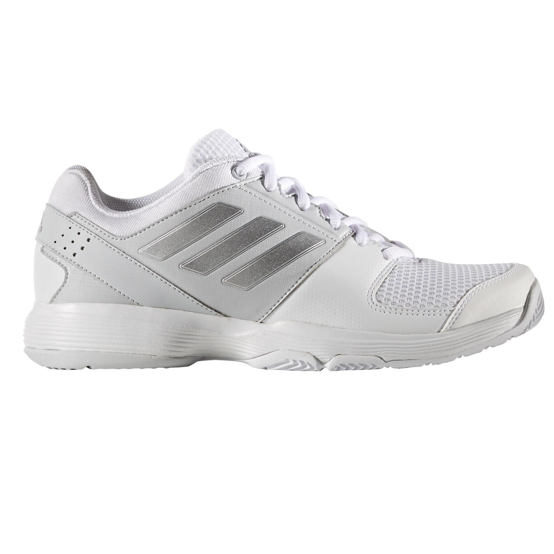 ... germany adidas barricade court womens tennis shoe white silver 00aeb  5db71 86822252b