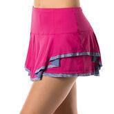 Lucky in Love Mixed Media Border Skirt