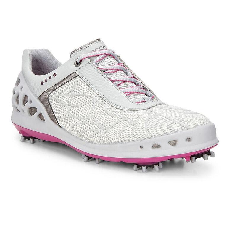 ECCO Womens Cage EVO Women's Golf Shoe - White/Silver