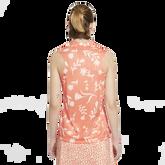 Alternate View 4 of Floral Print Sleeveless Breathe Polo Shirt
