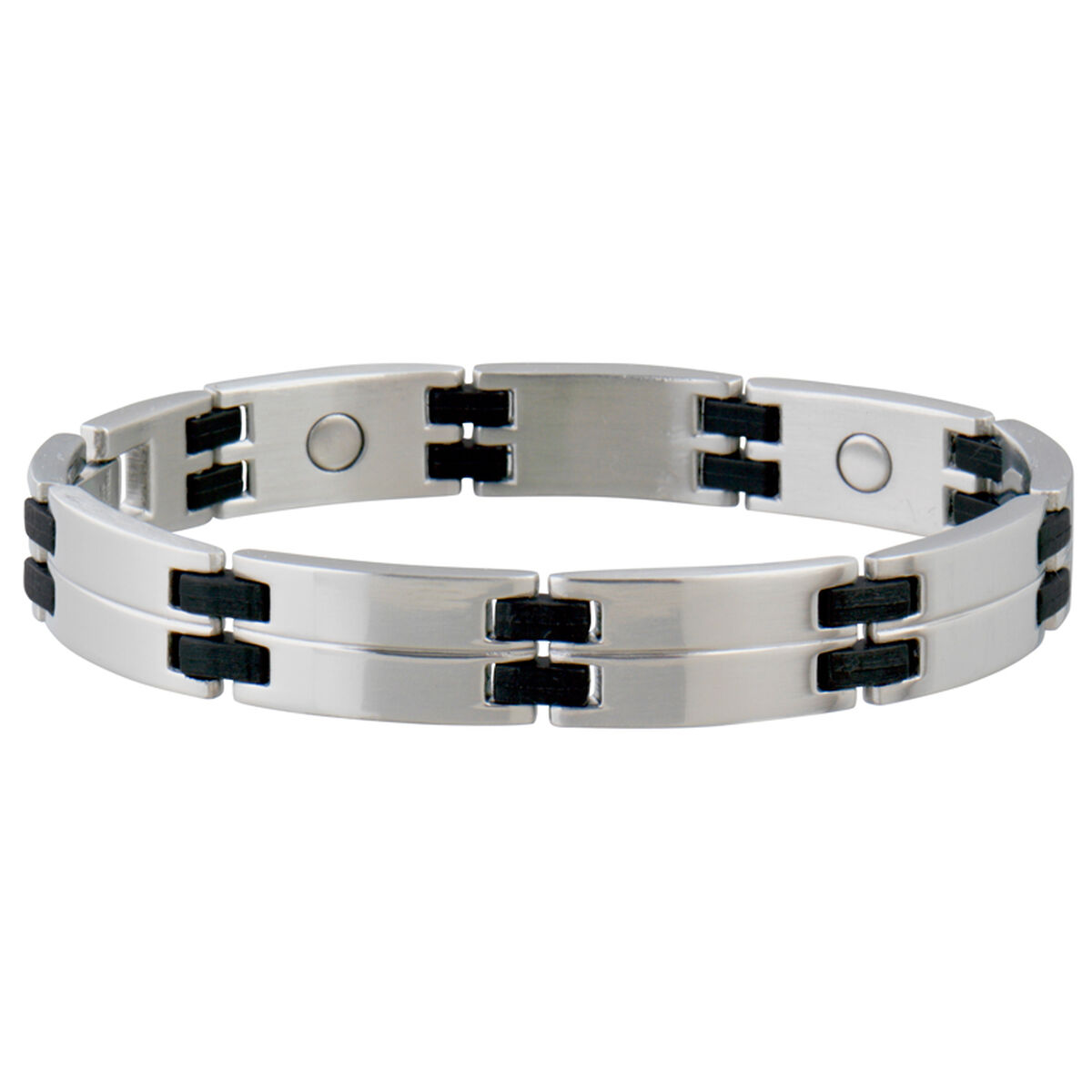 Sabona Magnetic Link Bracelet Black Steel