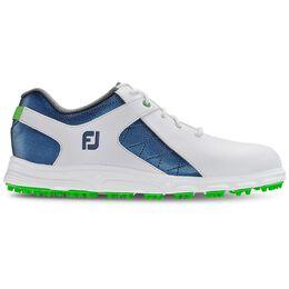 FootJoy Pro/SL Junior Golf Shoe - White/Royal