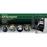 Golf Gifts & Gallery Black Metal Golf Bag Organizer in package