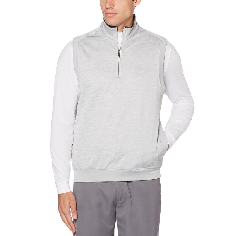 PGA TOUR Water Repellent Heathered Fleece 1/4 Zip Vest
