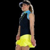 Alternate View 3 of Limonata Collection: Colorblock Sleeveless Quarter Zip Top