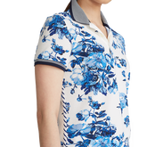 Alternate View 2 of Porcelain Floral Print Short Sleeve Polo