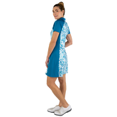 Alternate View 4 of Ocean Breeze Collection: Floral Print Short Sleeve Dress