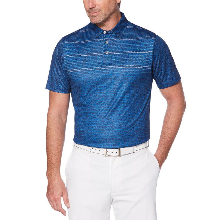 PGA TOUR Broken Chest Stripe Print Polo