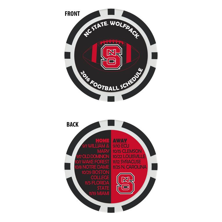 Team Effort NC State Football Schedule Ball Marker