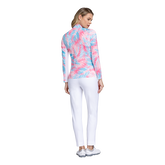 Alternate View 2 of Fun in the Sun Collection: Palm Print Long Sleeve Quarter Zip Pull Over