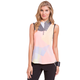 Dollface Collection: Sleeveless Geo Print Top