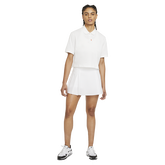 Short Sleeve Cropped Polo Shirt