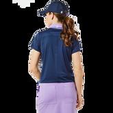 Alternate View 1 of Contrast Collar Zip Keystone Short Sleeve Top