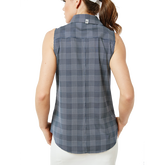Alternate View 2 of Sleeveless Keystone Check Print Shirt