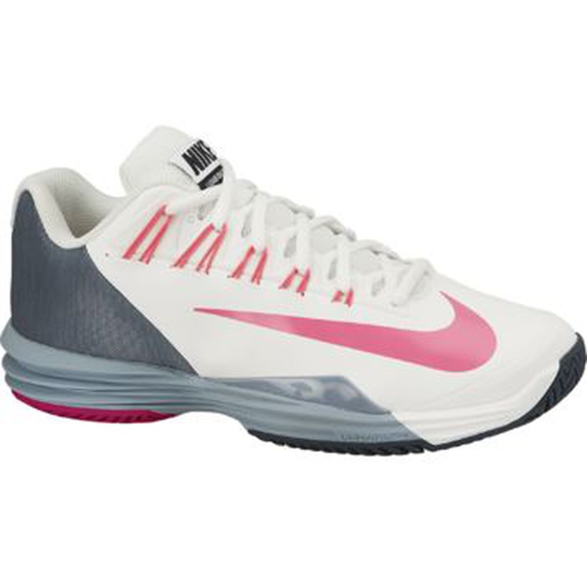 more photos b0ada 0dcb6 Nike Lunar Ballistic Women  39 s Tennis Shoe - Ivory Grey Pink Zoom Image