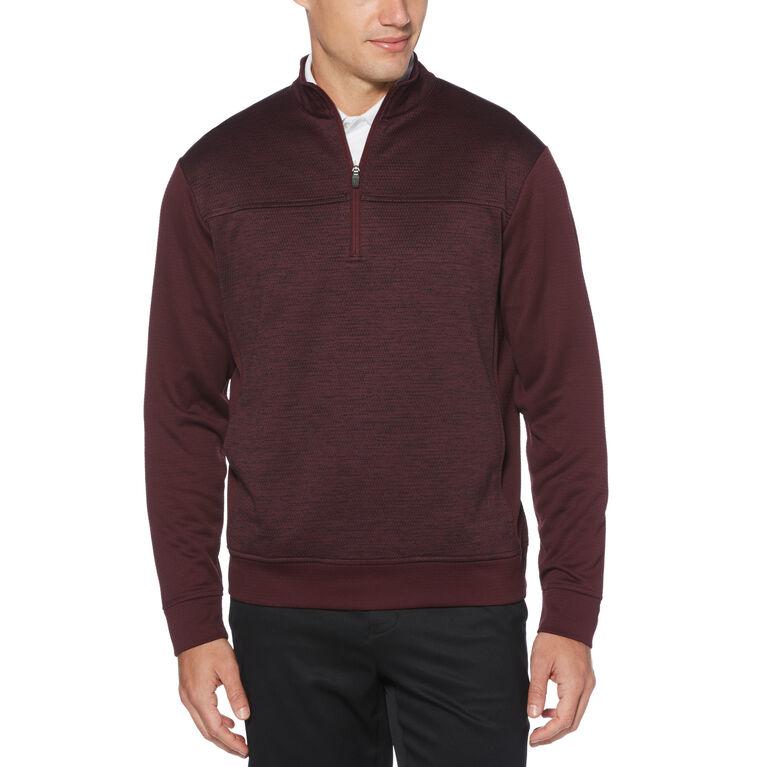 Textured Fleece Sweater