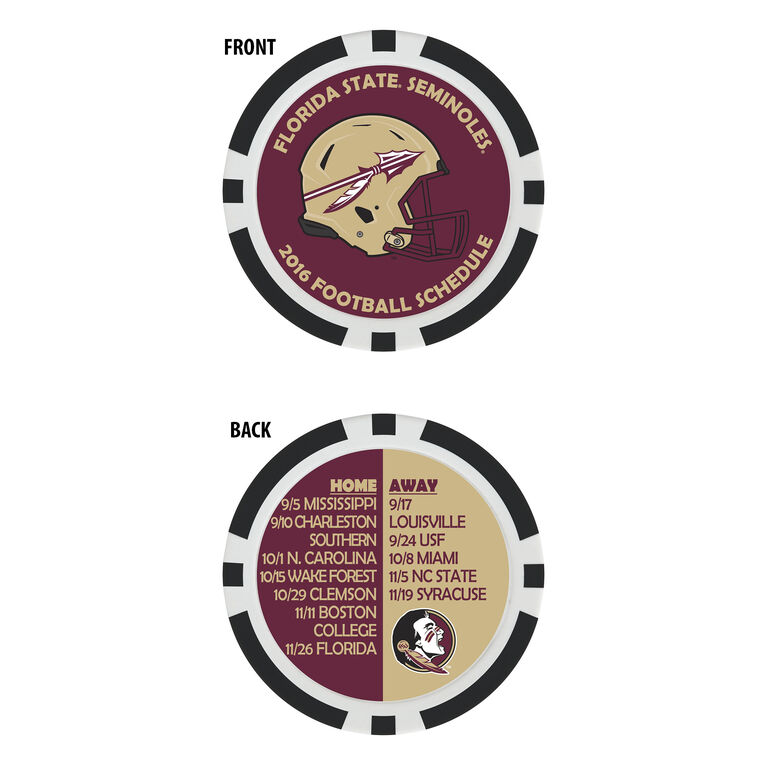 Team Effort Florida State Football Schedule Ball Marker