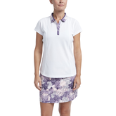 Impatiens Collection: Floral Print Collar Short Sleeve Shirt