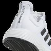 Alternate View 7 of adidas GameCourt WIDE Men's Tennis Shoe - White/Black