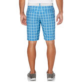 Alternate View 1 of Heather Grid Flat Front Golf Short with Active Waistband