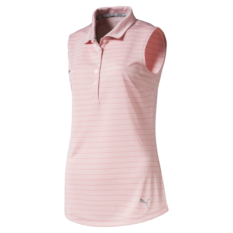 Rotation Stripe Sleeveless Golf Polo