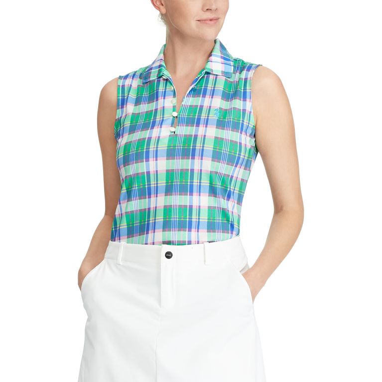 Sleeveless Tailored Fit Golf Polo Shirt