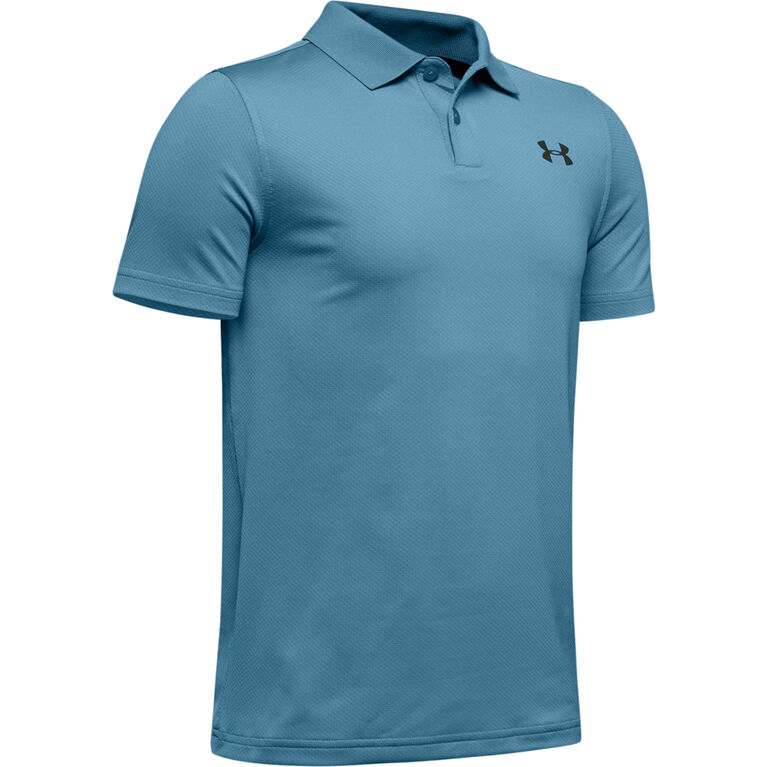 UA Performance Textured Boys' Golf Polo Shirt