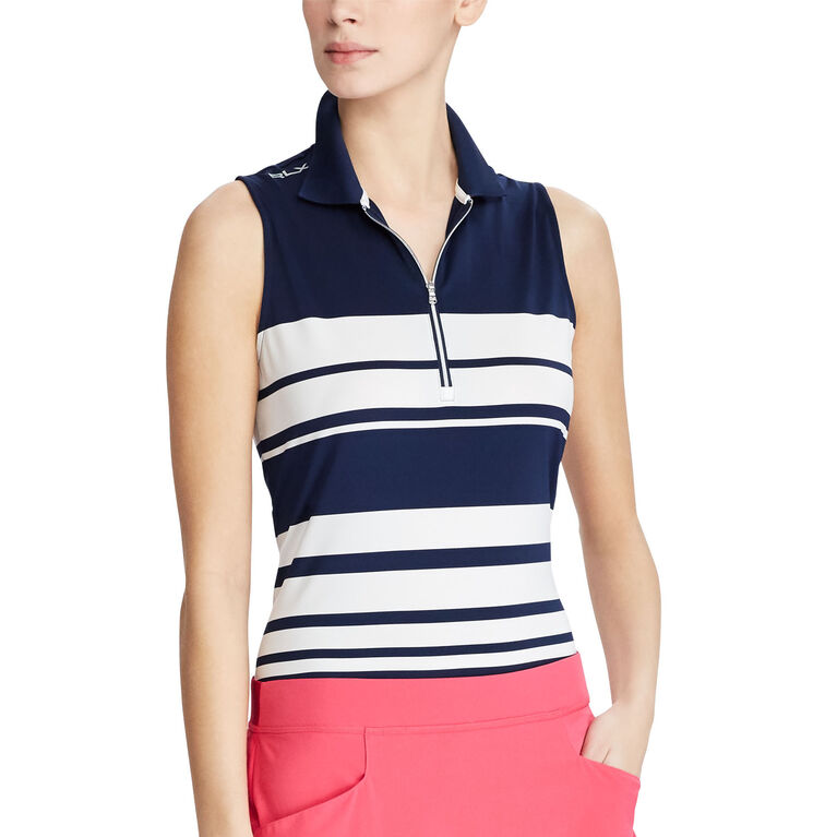 RLX Golf Striped Sleeveless Polo