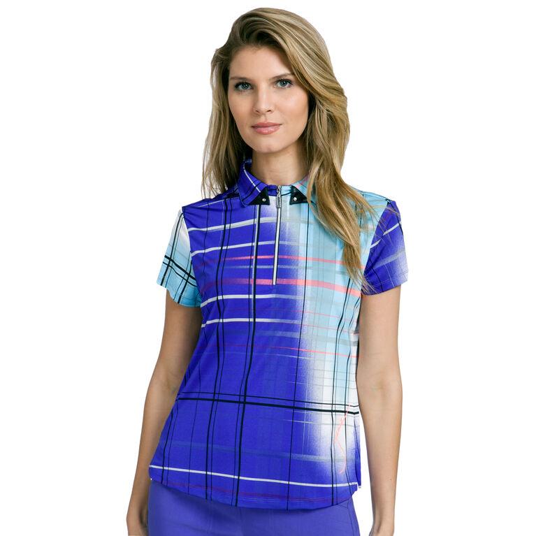 Pippin Group: Plaid Print Polo Shirt
