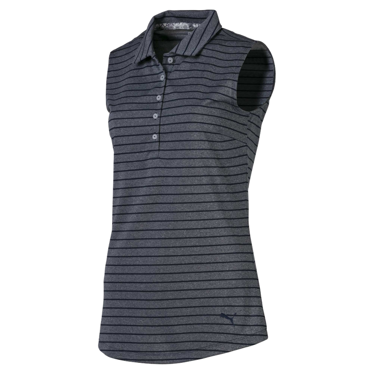 Rotation Stripe Sleeveless Golf Polo