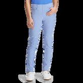 Gingham Skinny Golf Pant