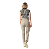 Alternate View 3 of Tiana Black Tiger Sleeveless Polo Shirt