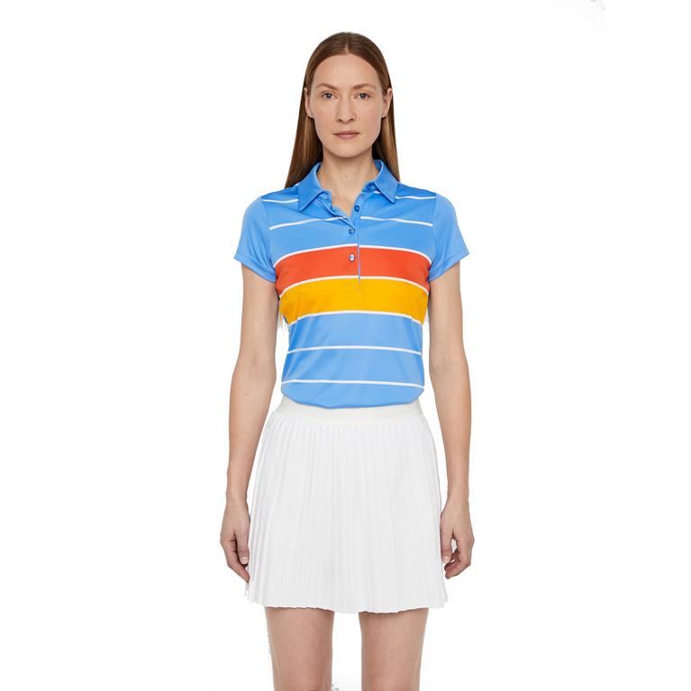 Alysa Short Sleeve Striped Polo