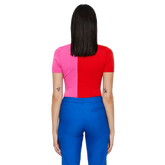 Alternate View 1 of Pink Group: Short Sleeve Hana Top