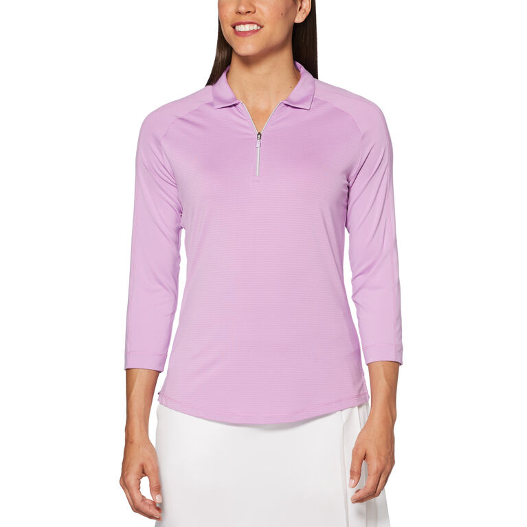 Lilac Collection: Shadow Stripe Golf Polo Shirt
