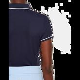 Short Sleeve Leana Lux Pique Polo Back Closeup