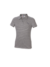 Girls Short Sleeve Links Stripe Polo
