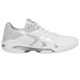 Asics GEL-Solution Speed 3 Women's Tennis Shoe - White/Silver