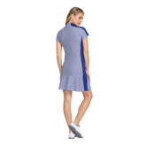 Alternate View 2 of Greek Isles Collection: Katie Short Sleeve Striped Jacquard Dress