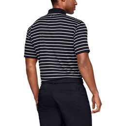 Performance Textured Stripe Golf Polo Shirt